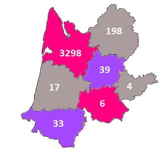 statistiques concours de bordeaux 2018 échantillons par départements